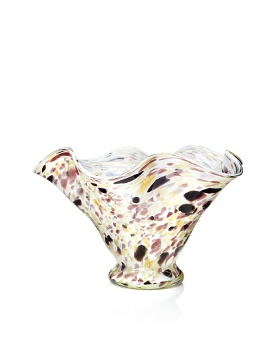 Glass Works Jozefina Lagoon Berry Beige, Amber & Amethyst 12 Bowl