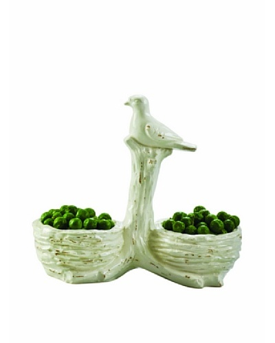 Global Views White Ceramic Two-Part Nest Bowl