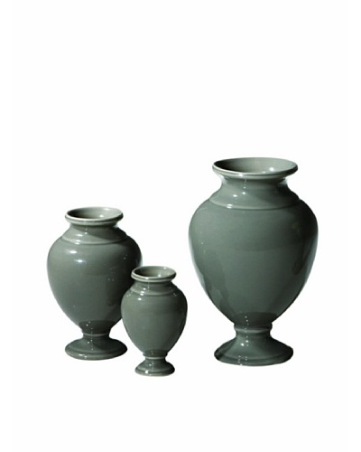 Global Views Set of 3 Pompeii Urns, Stone