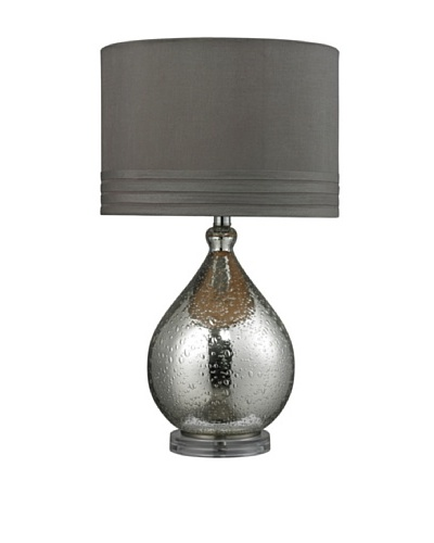 HGTV Home Mercury Platted Bubble Glass Table Lamp