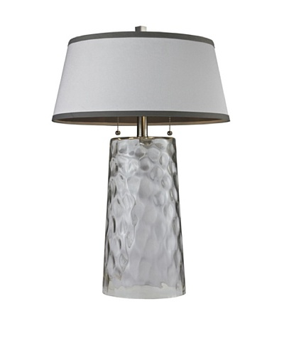 HGTV Home Clear Water Glass Table Lamp
