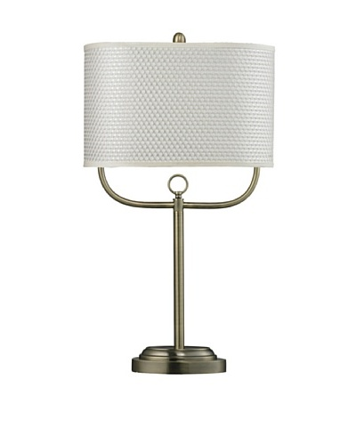 HGTV Home Double Armed Table Lamp in Antique Brass Finish