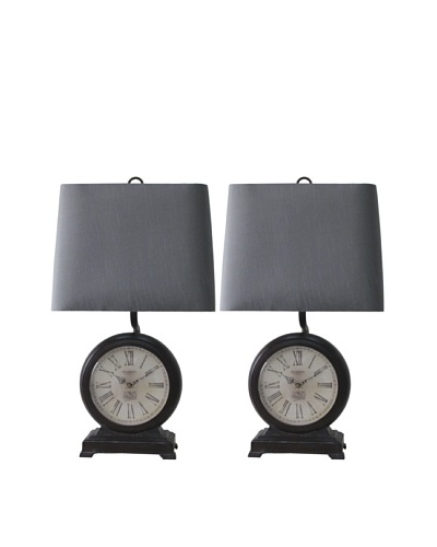 Murray Feiss Set of 2 Clock Table Lamps