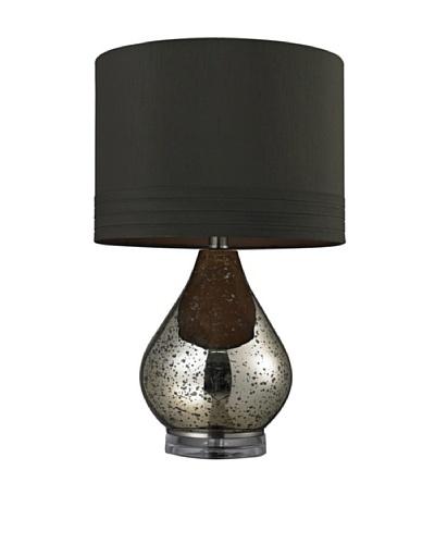 HGTV Home Gold Mercury Glass Table Lamp