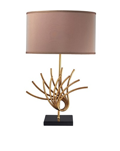 Dimond Lighting Sandhill Table Lamp, Gold Leaf