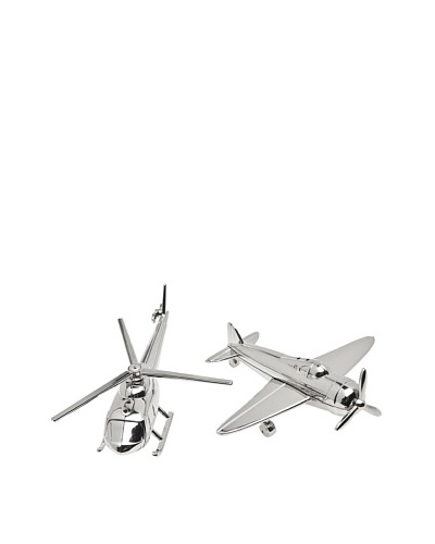 Godinger Airplane & Chopper Salt & Pepper Shakers