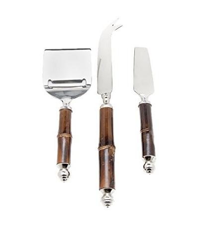 Godinger Set of Bamboo Handled Cheese Knives