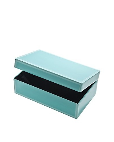 Godinger Blue Glass Jewelry Box, Medium