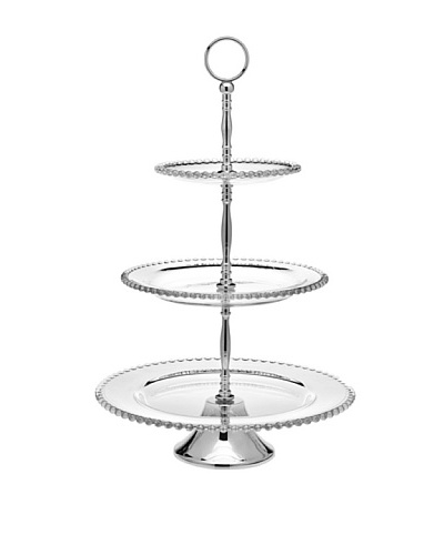 Godinger 3-Tier Chesterfield Server, Clear