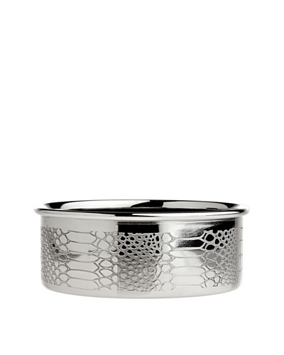 Godinger Croco Design Bottle Coaster, Silver