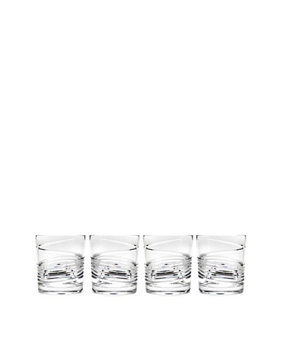 Godinger Spirale Set of 4 Double Old Fashion Glasses