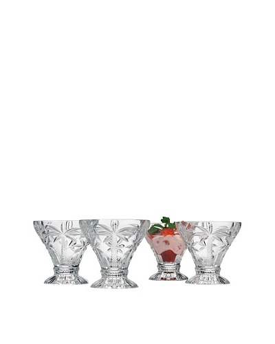 Godinger Set of 4 Palm Ice Cream Cups