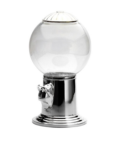 Godinger Candy Dispenser, Clear/Silver