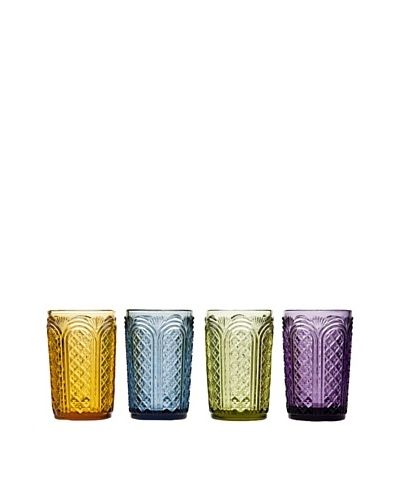 Godinger Set of 4 Assorted Cathedral Highball Glasses