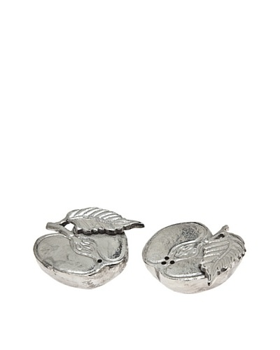 Godinger Cut Apple Salt & Pepper Shakers, Silver