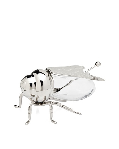 Godinger Bee Honey Jar, Silver/ClearAs You See