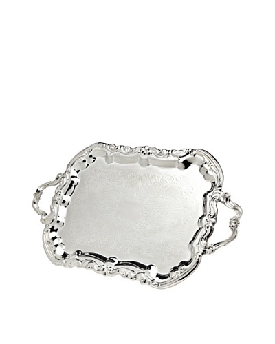 Godinger Rectangular Handeled Tray, Silver