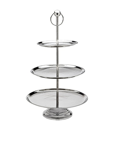 Godinger 3-Tier Hammered Server, Silver