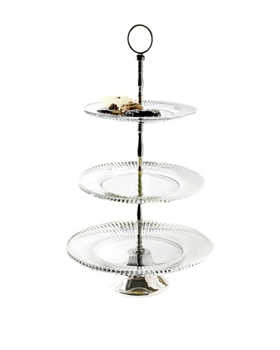 Godinger 3-Tier Fire & Ice Server, Clear