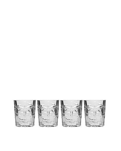 Godinger Set of 4 Palm Double Old-Fashioned Glasses