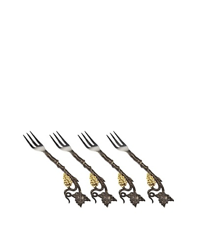 Godinger Set of 4 La Vigna Dessert Forks