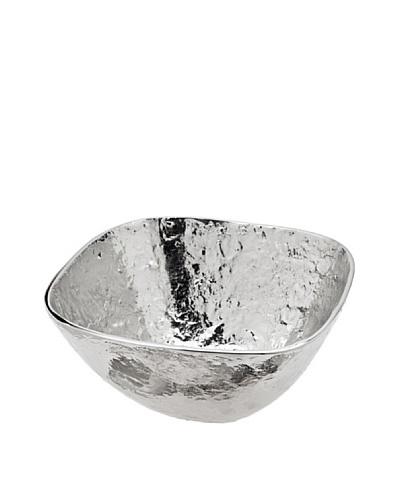 Godinger Lava Square Salad Bowl, Silver