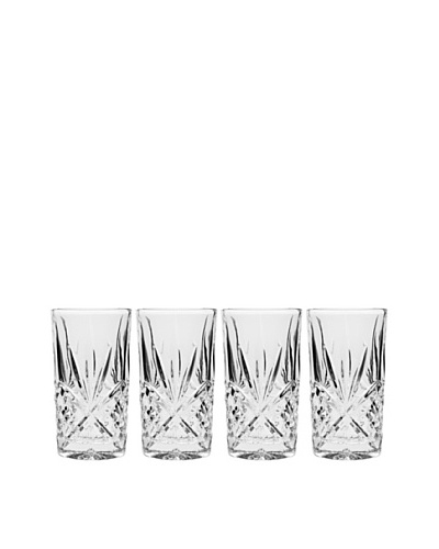 Godinger Set of 4 Dublin Highball Glasses, Clear