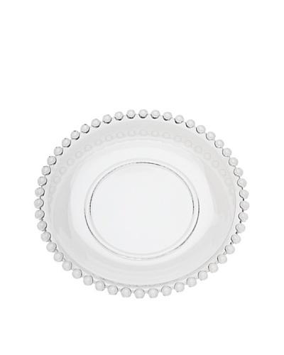 Godinger Set of 4 Chesterfield Dessert Plates, Clear