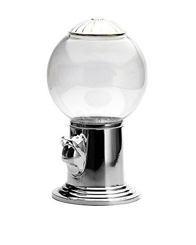 Godinger Candy Dispenser, Clear/Silver