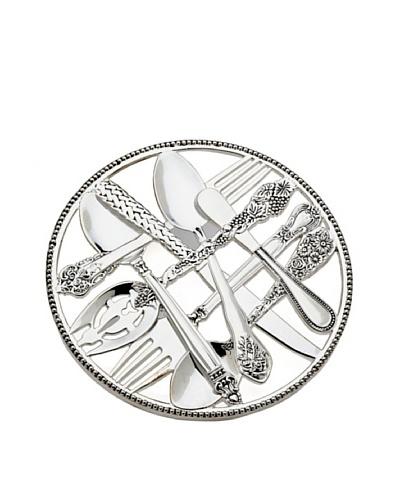 Godinger Flatware Design Trivet, Silver