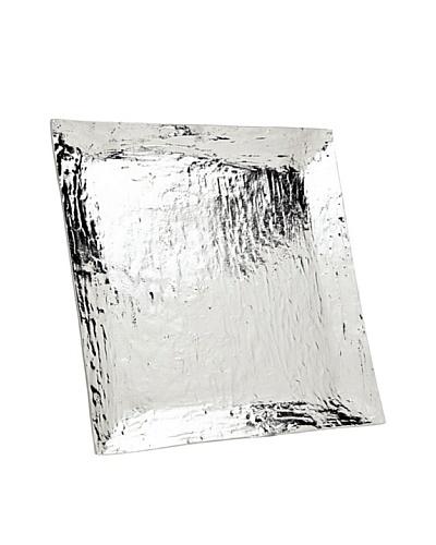 Godinger Lava Square Tray, Silver