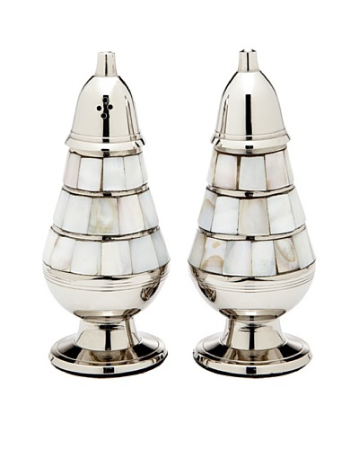 Godinger Mother Of Pearl Salt & Pepper Shakers