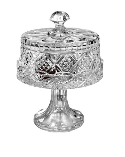 Godinger Dublin Footed Cheese Dome, Clear