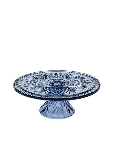 Godinger Dublin Colors Blue Footed Cake Plate