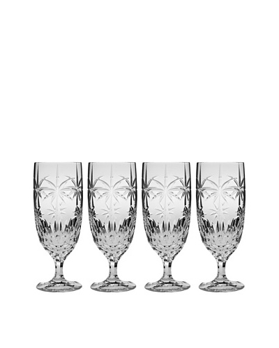 Godinger Set of 4 Palm Iced Tea Glasses
