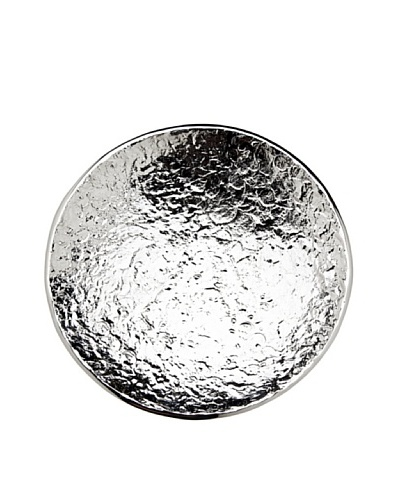 Godinger Lava Round Shallow Bowl, Silver