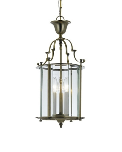 Gold Coast Lighting Solid Antique Brass Clear Beveled Lantern