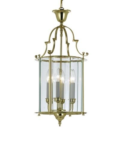 Gold Coast Lighting Solid Brass Clear Beveled Lantern