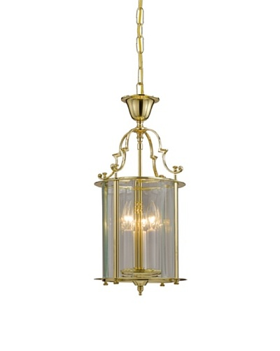 Gold Coast Lighting Solid Polished Brass Clear Beveled Lantern