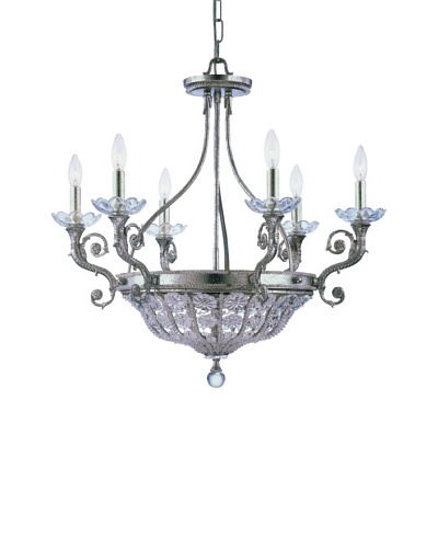 Gold Coast Lighting Olde Silver 6 Light Chandelier