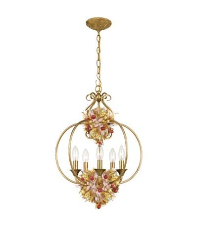 Gold Coast Lighting Antique Gold Leaf Wrought Iron Lantern