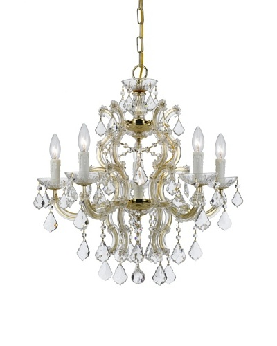 Gold Coast Lighting  Chandelier Draped in Hand Polished Crystal