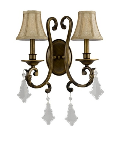 Gold Coast Lighting Brass Wall Sconce with Shades