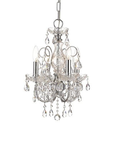 Gold Coast Lighting Solid Brass Crystal Chandelier Accented with Hand Cut Crystal