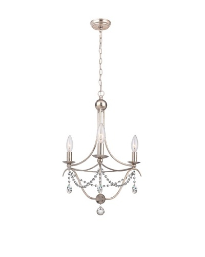 Gold Coast Lighting Draped 3-Light Antique Silver Chandelier