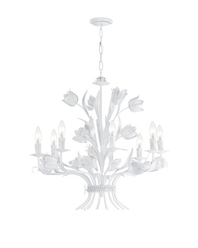 Gold Coast Lighting Southport Collection Chandelier, Wet White, 8-Light