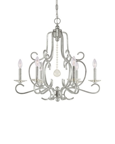 Gold Coast Lighting Chandelier, Old Silver