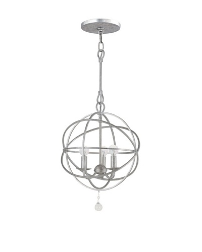 Gold Coast Lighting Orb Chandelier, Old Silver