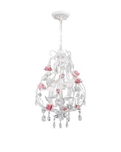 Gold Coast Lighting Rose & Crystal Chandelier