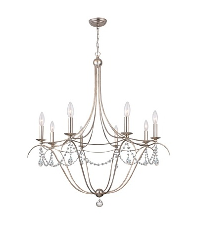 Gold Coast Lighting Draped 8-Light Antique Silver Chandelier